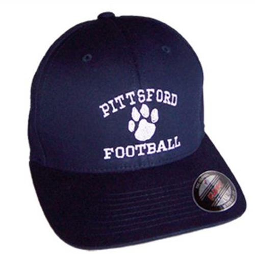 Pittsford Football Adult Navy Flex Fit Hat