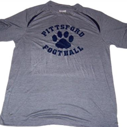 Pittsford Football Adult Gray / Navy Pennant Performance Tee