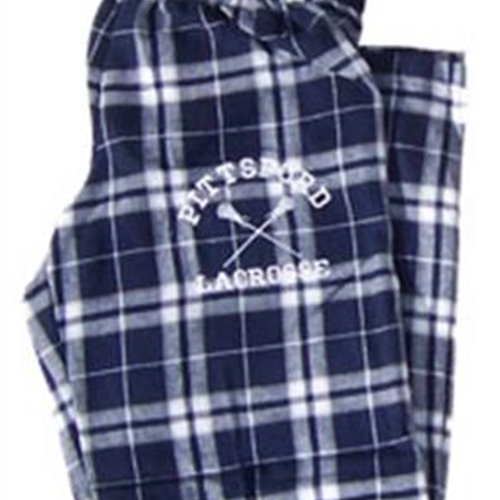 Pittsford LAX Navy/Silver Flannel Pants
