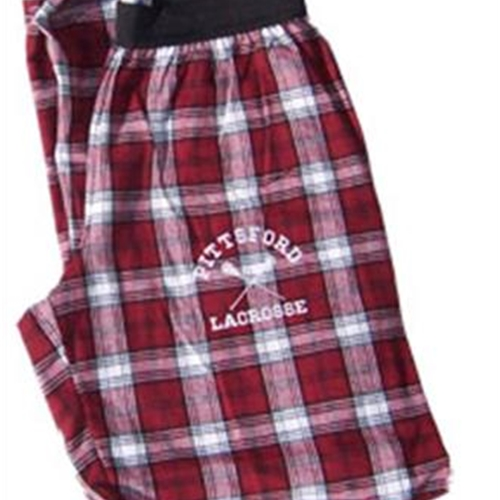 Pittsford LAX Maroon/White Flannel Pants