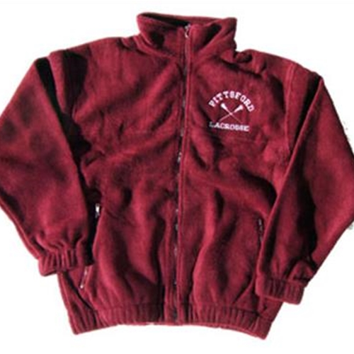 Pittsford LAX Adult Maroon Fleece Jacket