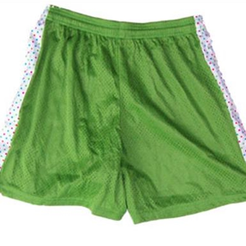 Pittsford LAX Youth Lime Green Shorts with Polka Dot Insert
