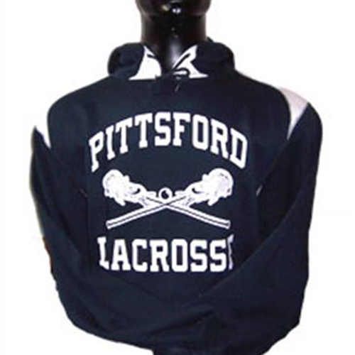 Pittsford LAX Adult Blue White Pullover Hooded Sweatshirt