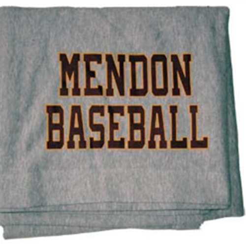 Pittsford Mendon Baseball Sweat Shirt Blanket