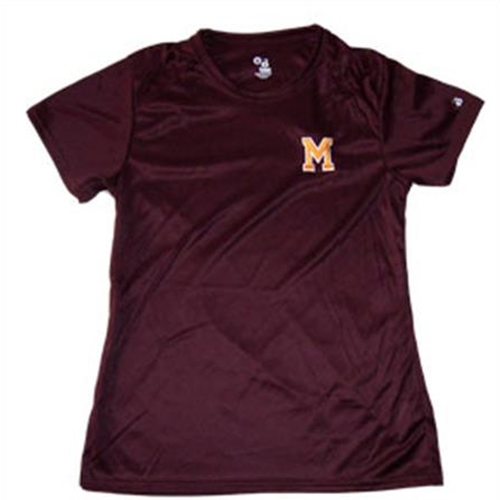 Pittsford Mendon Baseball Youth Maroon Dry Core Performance Tee