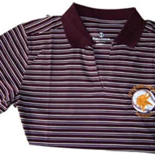 Pittsford Mendon Baseball Ladies Maroon White Holloway Helix Dry Excel Polo