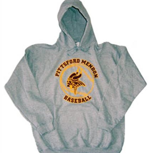 Pittsford Mendon Baseball Youth Grey Hoodie