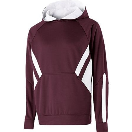 Pittsford Mendon Baseball Adult Maroon White Hoodie