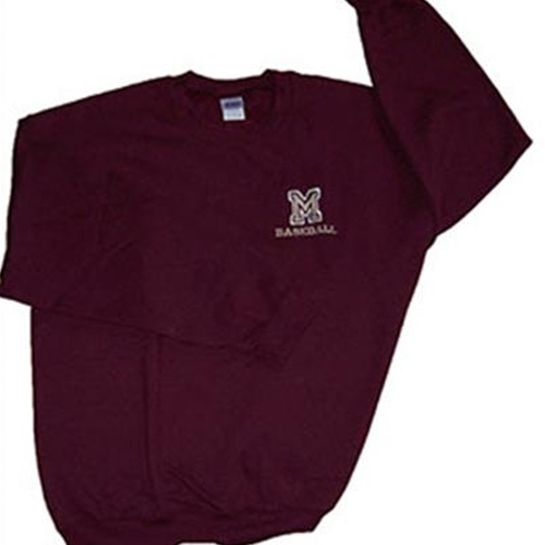 Pittsford Mendon Baseball Adult Crew Neck Sweatshirt