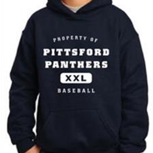 Pittsford Panthers Baseball Youth Navy Hoodie