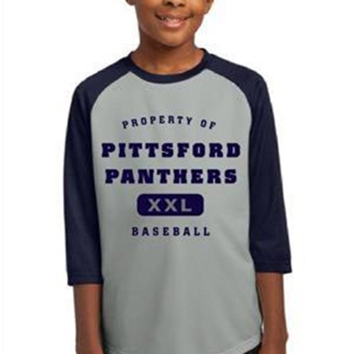 Pittsford Panthers Baseball Youth Navy Silver Jersey