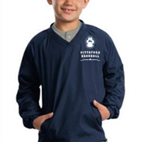 Pittsford Panthers Baseball Youth Navy VNeck Wind Shirt