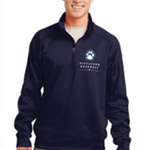 Pittsford Panthers Baseball Navy 1/4 Zip Fleece Pullover