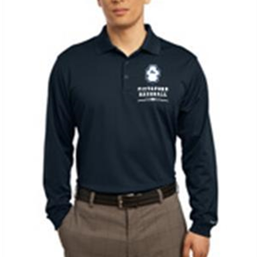 Pittsford Panthers Baseball Adult Navy or White Nike Long Sleeve Polo