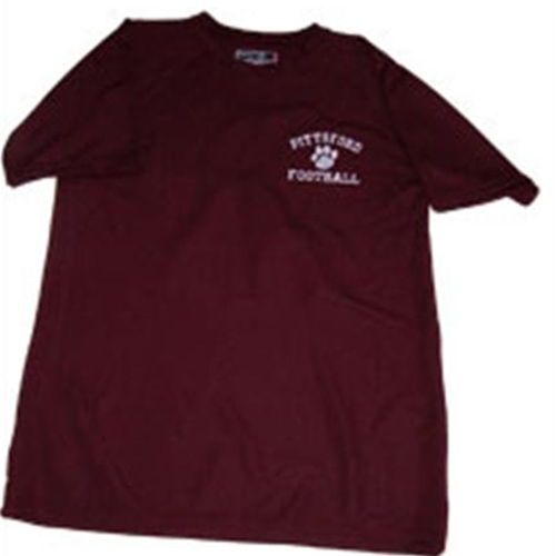 Pittsford Panthers Football Mens Maroon or White T-Shirt Embroidered