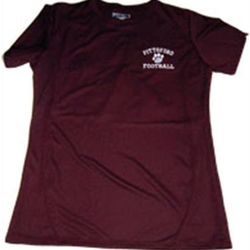Pittsford Panthers Football Ladies Maroon T-Shirt Embroidered