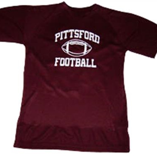 Pittsford Panthers Football Youth Maroon T-Shirt Printed