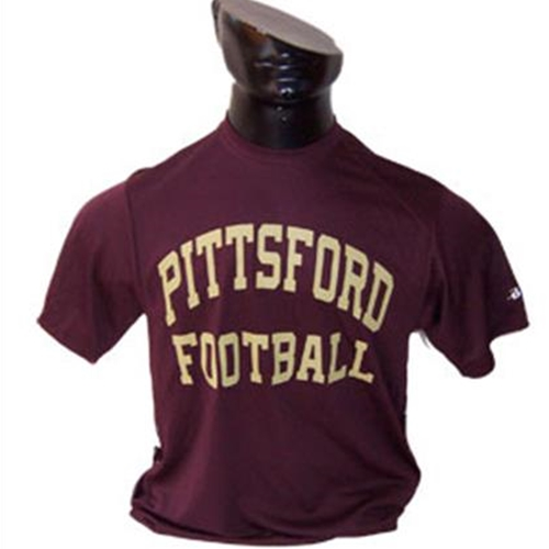Pittsford Panthers Football Youth Maroon Dry Core Tee