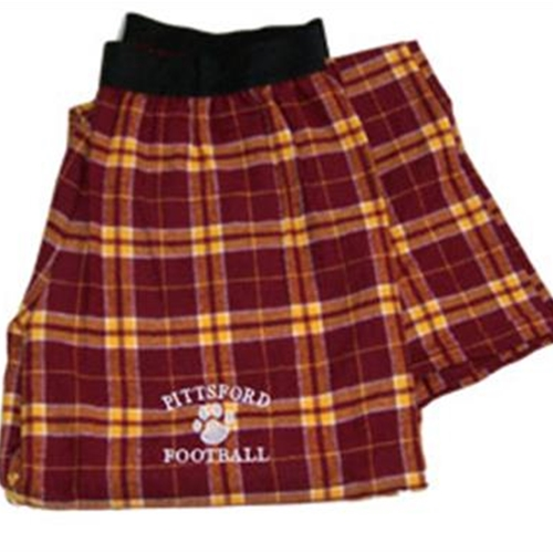 Pittsford Panthers Football Adult Maroon & Gold Flannel Pants