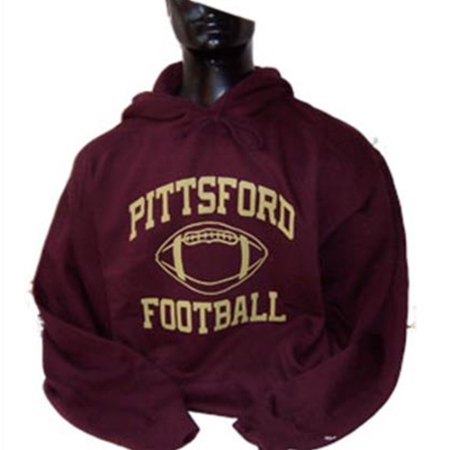 Pittsford Panthers Football Youth Maroon Hooded Sweatshirt