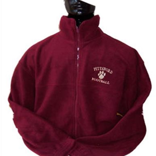Pittsford Panthers Football Adult Maroon Full Zip Fleece