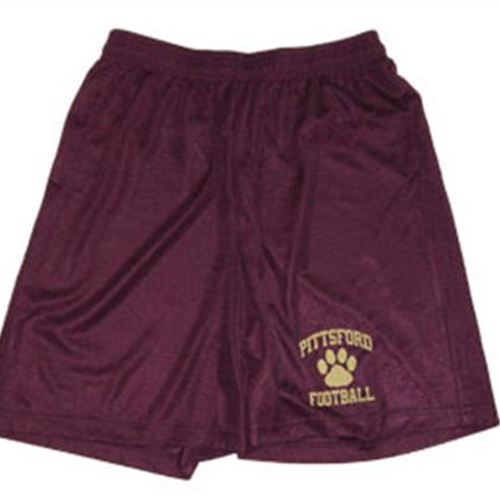 Pittsford Panthers Football Youth Maroon Mesh Shorts