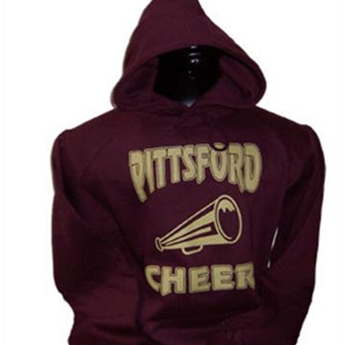 Pittsford Panthers Football Adult Maroon Cheer Hooded Sweatshirt