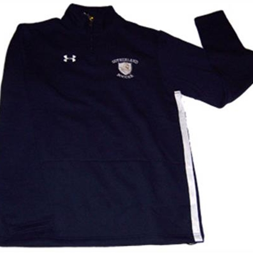 Pittsford Sutherland Soccer Mens Navy/White Under Armour 1/4 Zip Storm
