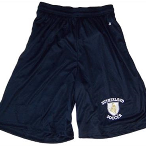 "Pittsford Sutherland Soccer Adult B-Core Navy 10"" Shorts with Pockets"