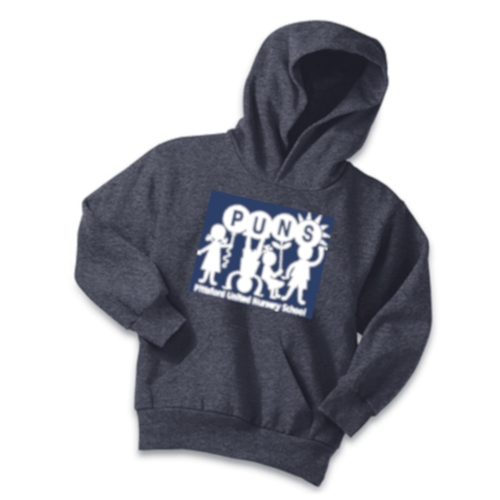 PUNS Port & Company Youth Fleece Pullover Hooded Sweatshirt