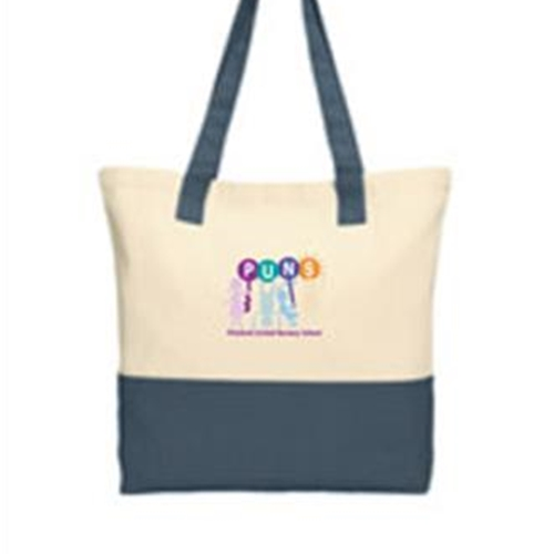 PUNS Port Authority Colorblock Cotton Tote Bag - $20.00