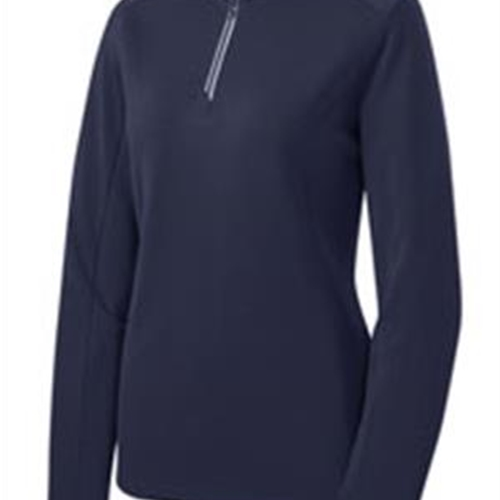 Pittsford Wrestling Ladies True Navy Textured 1/4 Zip Pullover