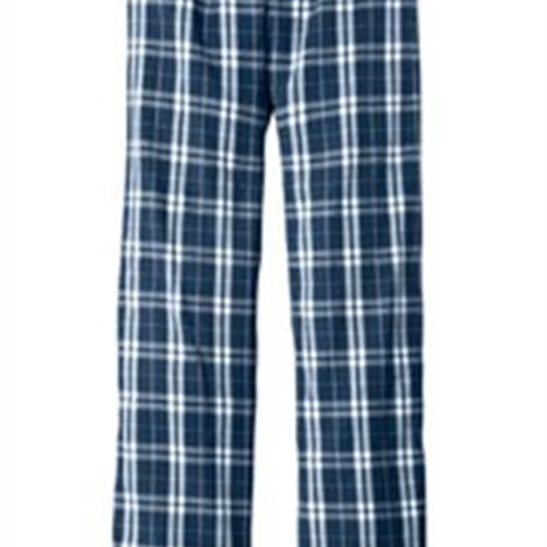 Pittsford Wrestling District Made Men's Navy/White Flannel Pants