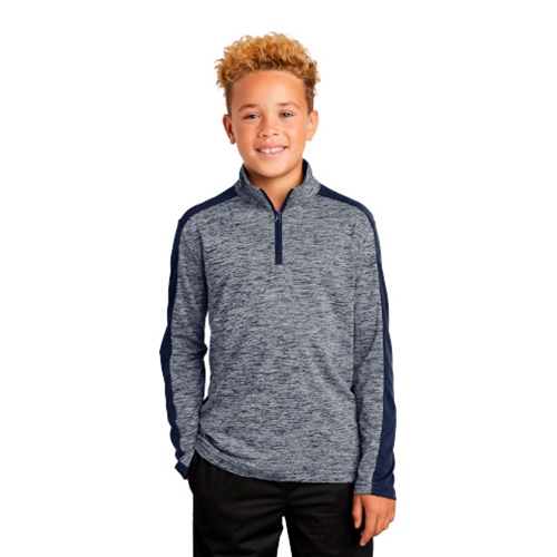 St. Rita School Youth 1/4 Zip Navy Fleece