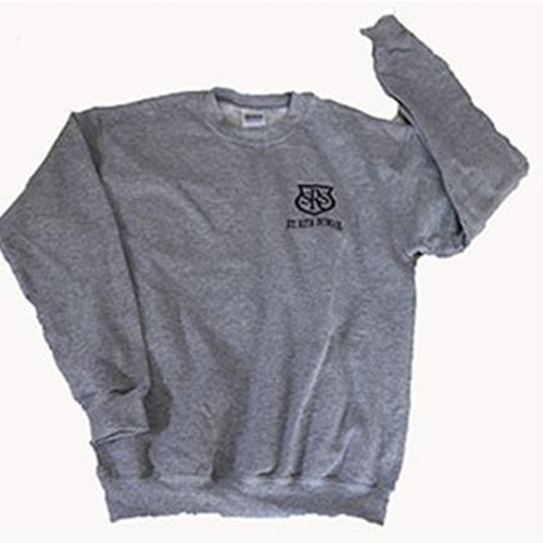 St. Rita School GYM Adult Crew Neck Sweatshirt Sport Grey