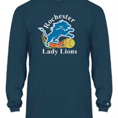 Rochester Lady Lions Adult L/S Performance Tee