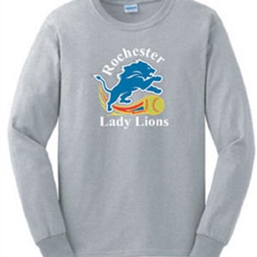 Rochester Lady Lions Adult L/S 100% Cotton Tee
