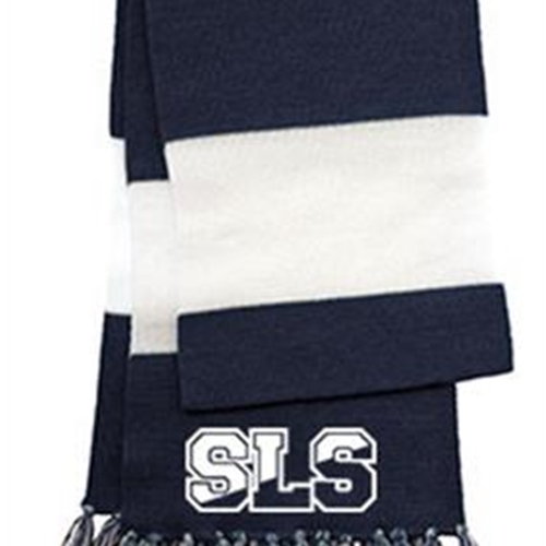 St. Louis School Unisex Navy Blue/White Scarf