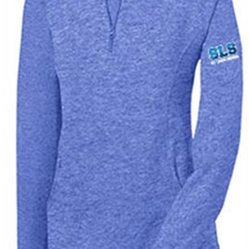 St. Louis School Ladies 1/4 Zip Royal Heather