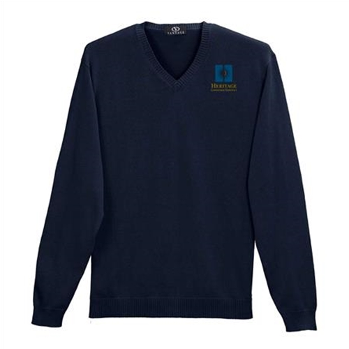 Heritage Christian Services Mens Clubhouse V-Neck Sweater