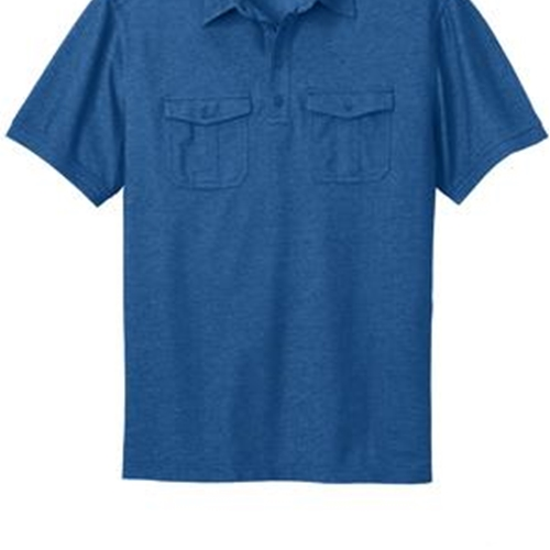Villa of Hope Adult Port Authority Oxford Pique Double Pocket Polo