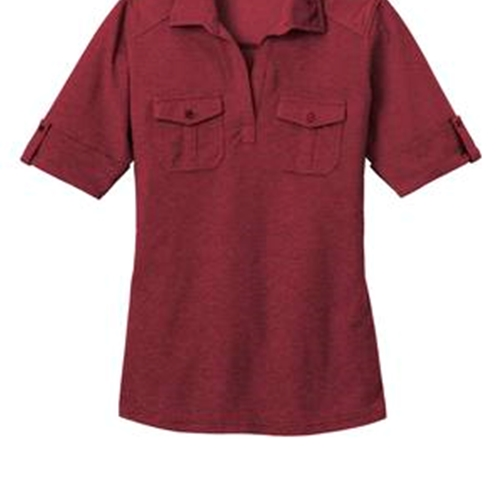 Villa of Hope Ladies Port Authority Oxford Pique Double Pocket Polo