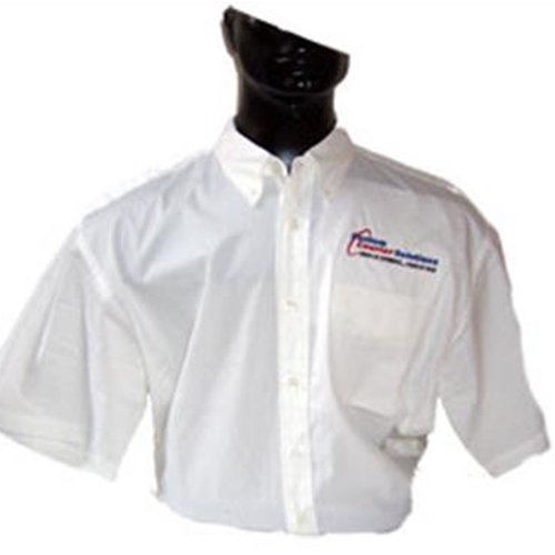 Custom Courier Solutions Men's Short Sleeve Button Down Shirt