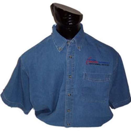 Custom Courier Solutions Men's Short Sleeve Denim Shirt