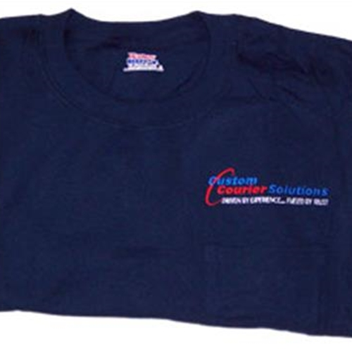 Custom Courier Solutions Adult Pocket T Shirt