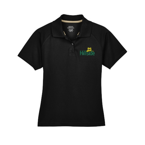 Hillside Service Solutions Adult Ladies Black Extreme Performance Polo
