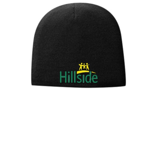 Hillside Service Solutions Adult Black Fleece Lined Beanie