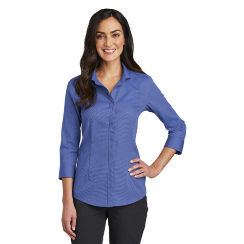 Villa of Hope Ladies 3/4 Sleeve Non Iron Pinpoint Oxford