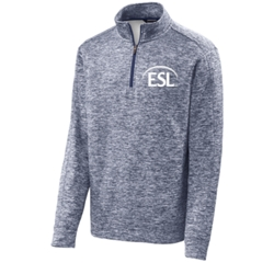 Adult Unisex Electric Heather Fleece 1/4 Zip - $40.00