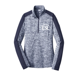 Ladies Posicharge Electric Heather 1/4 Zip - $30.00
